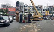Lật xe container, giao thông cửa ngõ Tân Sơn Nhất hỗn loạn