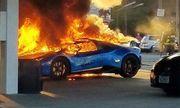 Siêu xe Lamborghini bị thiêu rụi vì lý do lãng xẹt