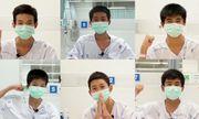 Video: 13 thành viên đội bóng Thái Lan cảm ơn cả thế giới