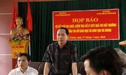 Họp báo công bố gian lận điểm thi THPT quốc gia 2018 tại Hà Giang: Hơn 300 bài thi bị sửa điểm