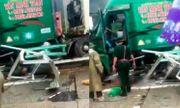 Xe container tự trôi đâm thẳng vào bốt gác khiến Trung tá Biên phòng tử vong
