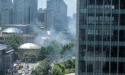 Hiện trường vụ nổ bên ngoài đại sứ quán Mỹ ở Bắc Kinh