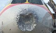 Trung Quốc: Máy bay bị lõm đầu, hạ cánh khẩn cấp vì dính mưa đá