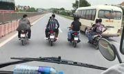 Video: Nhóm thanh niên nghênh ngang đi xe máy dàn hàng trước đầu ô tô ở Thanh Hóa