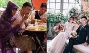 Dở khóc dở cười với cô dâu diện ''combo'' áo mưa, nón lá và dép tổ ong trong ngày cưới