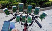 Cụ ông 70 tuổi đạp xe chở 11 smartphone đi bắt pokemon