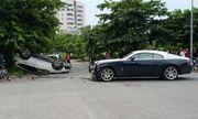 Hy hữu cảnh xe Rolls-Royce Wraith triệu đô bị đâm nát đầu ở Hà Nội