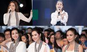 Hồ Ngọc Hà - Hoàng Thùy Linh đọ sắc với dàn Hoa hậu, Á hậu Việt