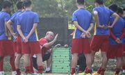 Đội hình ra sân của Olympic Việt Nam trong trận gặp Olympic Nepal