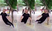 Video: Người đàn ông tập thể dục bằng cách treo cổ lên cây rồi xoay như chong chóng