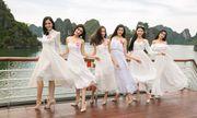 Dàn thí sinh Hoa hậu Việt Nam khoe dáng trên du thuyền 5 sao giữa biển trời Hạ Long