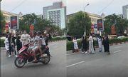 Nhóm người hóa trang ma quỷ nhảy nhót trên quốc lộ 1A bị xử phạt