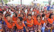 Qũy sữa Vươn cao Việt Nam và Vinamilk đem niềm vui ngày Tết Trung thu đến cho trẻ em tỉnh Vĩnh Phúc