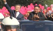 Video: Rừng cờ hoa chào đón Tổng thống Hàn Quốc ở Bình Nhưỡng