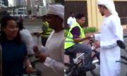Video: Đại gia Dubai khiến người đi đường sửng sốt vì quá nhiệt tình... phát tiền miễn phí