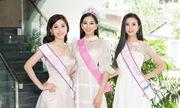 Top 3 Hoa hậu Việt Nam 2018 liên tục thay trang phục, tất bật đi giao lưu