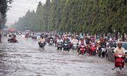 Cận cảnh Cần Thơ mùa nước nổi, người và xe di chuyển trên