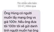 Điều tra vụ Chánh văn phòng Đoàn ĐBQH Hà Nội bị nhắn tin đe dọa, tống tiền