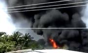 Cà Mau: Thợ hàn gây cháy lớn, người dân chạy tán loạn