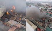 Hà Nội: Cháy lớn nhà xưởng gần bến xe Nước Ngầm, khói bốc cao ngùn ngụt