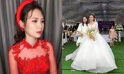 Hình ảnh cô dâu xinh đẹp trong đám cưới siêu khủng chi gần 1 tỷ đồng làm rạp ở Vĩnh Phúc