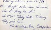 Dân mạng truy tìm danh tính thầy giáo dễ mến, tuyên bố không nhận quà 20/11
