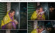 Người đàn ông vô gia cư lạc lõng trong đêm mưa bão đổ bộ Sài Gòn khiến dân mạng nghẹn ngào
