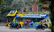 Xe buýt 2 tầng mui trần xuất hiện trên đường phố Hà Nội