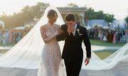 """Video: Tà váy cưới khổng lồ trong """"đám cưới thế kỷ"""" của Hoa hậu thế giới Priyanka"""