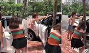 Video: Phì cười chứng kiến 2 cô gái loay hoay đóng cửa ô tô