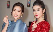 Á hậu Huyền My cực gợi cảm khi đọ dáng cùng Hoa hậu Mỹ Linh