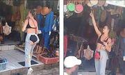 Nữ du khách mặc quần lộ toàn bộ vùng nhạy cảm khiến dân mạng choáng váng