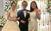 Dàn nghệ sĩ tụ họp tưng bừng trong đám cưới NSND Trung Hiếu và vợ kém 19 tuổi