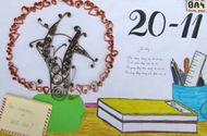 """Chuyện học đường - Mẫu báo tường """"độc"""" và """"lạ"""" cho ngày  20/11"""