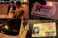 """An ninh - Hình sự - Khung tiền phạt vụ tài xế gây tai nạn, rút thẻ Bộ Nội vụ """"dọa"""" CSGT"""