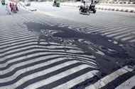 Video-Hot - Nắng nóng hơn 51 độ C khiến nhựa đường tan chảy ở Ấn Độ