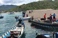 Tin trong nước - Chìm nhà hàng trên vịnh Vĩnh Hy, 300 khách rơi xuống biển