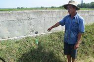 """Tin trong nước - Trạm bơm thủy lợi tiền tỷ xây xong """"đắp chiếu"""", đồng ruộng khát nước"""