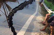 Tin trong nước - Yên Bái: Đường quốc lộ nứt nẻ, sụt lún quá đầu người