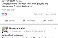 Bóng đá - HLV Calisto chúc mừng chiến tích của U19 Việt Nam