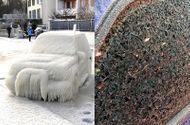 Ăn - Chơi - Chiêm ngưỡng những tạo hình độc đáo từ băng tuyết trên ô tô