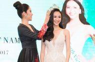 Tin tức giải trí - Hà Thu chính thức nhận vương miện Hoa hậu Trái Đất Việt Nam