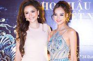 Tin tức giải trí - Hoa hậu Diễm Hương kín đáo, Kiều Ngân lả lơi vai trần dự sự kiện