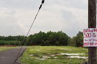 Tin tức - Cắm biển khuyến cáo không giao dịch đất nền quanh sân bay Long Thành