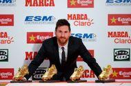 Tin tức - Giành chiếc Giày Vàng thứ tư, Messi cân bằng kỷ lục của Ronaldo