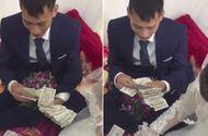 """Tin tức - Video: Chú rể Hải Phòng """"đếm mỏi tay"""" cọc tiền lẻ sau đám cưới"""