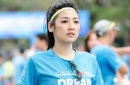 Tin tức - Á hậu Tú Anh xinh đẹp đầy sức sống tham gia marathon đầu năm