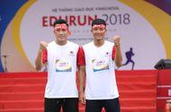 Cần biết - Hà Đức Chinh và Bùi Tiến Dụng chạy cùng hàng nghìn người quyên góp tiền cho trẻ em nghèo tại EDURUN 2018