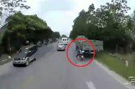 Tin tức - Nam thanh niên may mắn thoát khỏi lưỡi hái tử thần khi tự tông vào đuôi xe tải