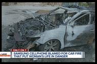Samsung Galaxy phát nổ kinh hoàng, thiêu rụi nguyên chiếc ô tô